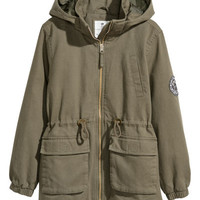 Cotton Twill Parka - from H&M