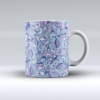 The Vibrant Purple Toned Sproutaneous ink-Fuzed Ceramic Coffee Mug
