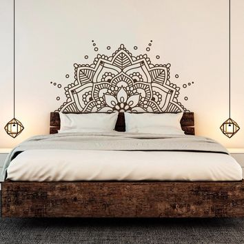 YOYOYU Mandala Art Vinyl Wall Stickers Yoga Studio Namaste Pattern Boho Removeable Decal Headboard Bedroom Decoration ZX370