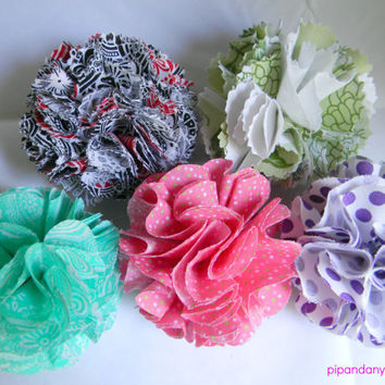 Fabric Flower Hair Clip, Flower Clip