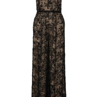 Marchesa - Embellished lace and tulle jumpsuit