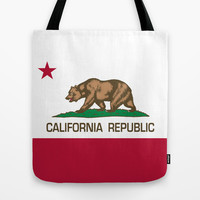 "California Republic state flag - Authentic Version ""retweaked"" Tote Bag by Bruce Stanfield"