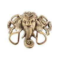 Natalie B Jewelry Lucky Ganesha Cuff in Metallic Gold