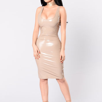 What The Faux Dress - Nude