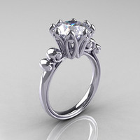 Modern Antique 14K White Gold 30 Carat White by artmasters on Etsy