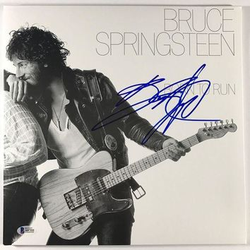 ICIKJNG Bruce Springsteen Signed Autographed 'Born to Run' Record Album (Beckett COA)