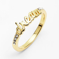 Ariella Collection 'Messages - Dream' Script Ring (Nordstrom Exclusive) | Nordstrom