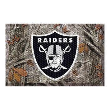 OAKLAND RAIDERS SCRAPER DOORMAT (19X30)