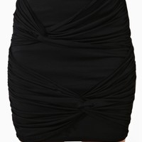 Forget Me Knot Skirt - Black