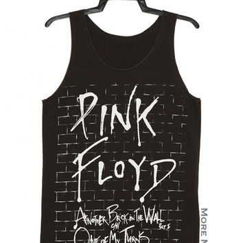 Pink Floyd The Wall Charcoal Black Tank Top Singlet Vest Tunic Sleeveless Women Tee Shirt Punk Rock Music T-Shirt Size M-L