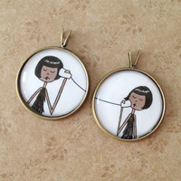 BFF Best Friend pendant set