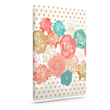 "Pellerina Design ""Spring Florals"" Blush Peony Canvas Art"