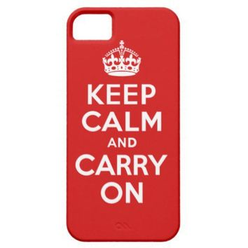 Best Price Keep Calm And Carry On Red and White Iphone 5 Cover from Zazzle.com
