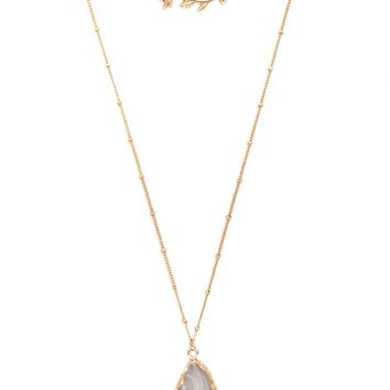 Faux Stone Layered Necklace | Forever 21 - 1000186631