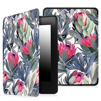 Fintie Case for Kindle Paperwhite - The Thinnest and Lightest PU Leather Cover Auto Sleep/Wake for All-New Amazon Kindle Paperwhite (Fits All 2012, 2013, 2015 and 2016 Versions), Protea Paradise