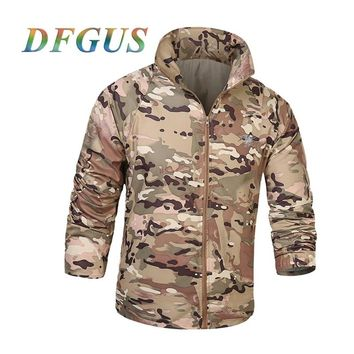 US Army Tactical Militar Skin Jacket Men UPF50+ Waterproof Fast Dry Outdoors Raincoat Windbreaker Thin Military Camo Jacket