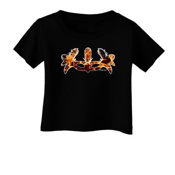 Fire Masquerade Mask Infant T-Shirt Dark by TooLoud