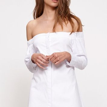 Bardot Button Up Shirt Dress