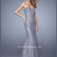 Sweetheart Lace Mermaid La Femme Prom Dress 20964