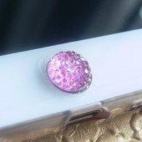 iPhone Home Button, iPhone Charm Sticker, iPhone iPad accessories -  Pink or Purple