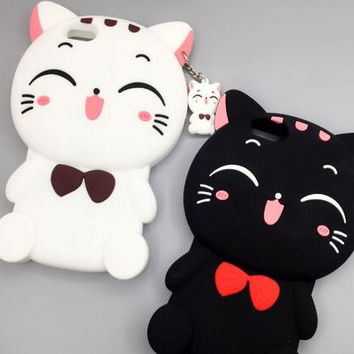 Smile cat phone case for iphone 6 6s 6 plus 6s plus + Nice gift box 072301
