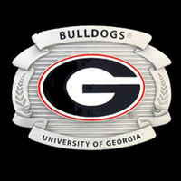 Georgia Bulldogs NCAA Oversized Belt Buckle