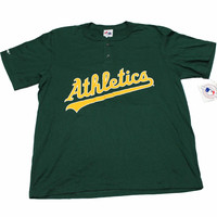 Vintage Deadstock 90s Oakland A's Jersey Shirt Made in USA Mens Size Large