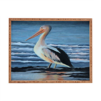 Rosie Brown Pelican Wading 2 Rectangular Tray