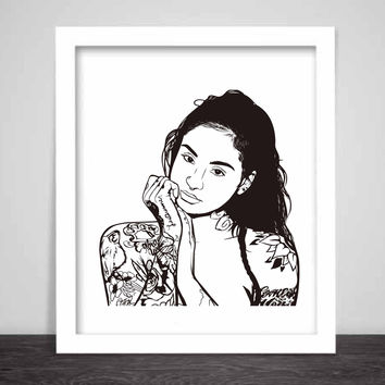 Kehlani Art Poster (3 sizes) // You Should Be Here Lani Tsunami Mob