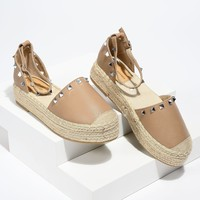 Beverly Lady Taupe Espadrille