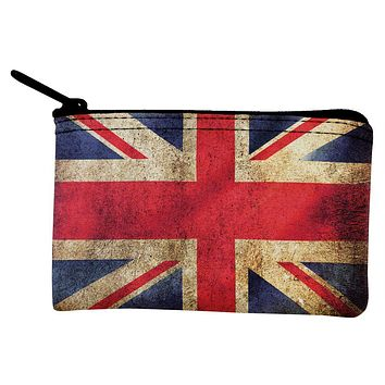British Flag Union Jack Grunge Distressed Coin Purse