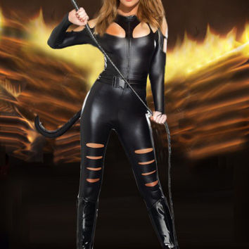 Cat Women Cosplay Anime Cosplay Apparel Holloween Costume [9211523396]