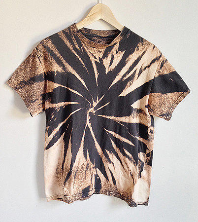 Shop Black Bleached Shirt on Wanelo