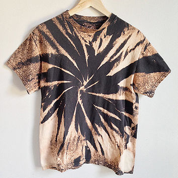 90s Grunge Acid Bleached T Shirt Black From Improv Goods