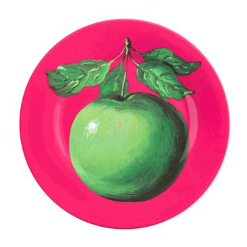 Magritte Pink/Apple Plate - The Afternoon