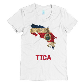 "The Costa Rica ""Tica"" Flag T-Shirt"