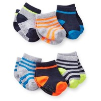 6-Pack Striped Baby Socks