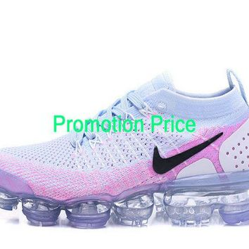 2018 Fashion Nike Air Vapormax Flyknit 2 Mens 2018 Running Shoes Hydrogen Blue Pink 942843-102 sneaker