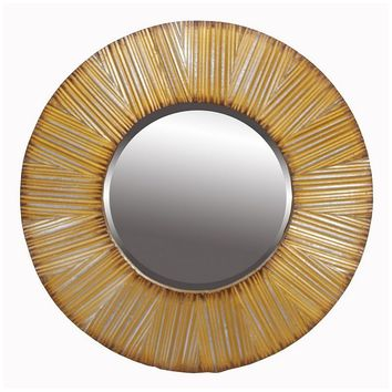 Privilege Round Beveled Wall Mirror (Yellow)