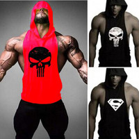 Skull ZYZZ Golds Bodybuilding Stringer Hoodies Gym Stringer Hoodie Fitness Brand Tank Top Men Clothing Cotton Pullover Hoody