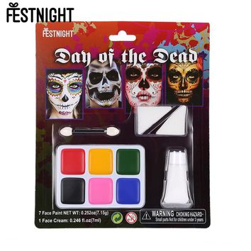 Halloween Make Up Face Paint Kit FESTNIGHT Masquerade Ball Skin Friendly Zombie Makeup Vivid Face Paint for Costume Show