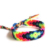 Friendship Bracelet. Hot Neons. by makunaima on Etsy