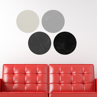 Writeable wall decal - Simple Circles Chalkboard 1