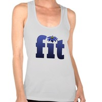 Fit blue flower work out shirt