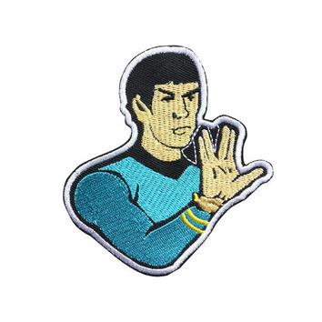 Star Trek patch Live Long and Prosper Patch Embroidered Movie Iron On Sew On Patches