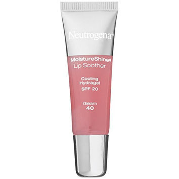 Neutrogena MoistureShine Lip Soother, SPF 20, Gleam 40, 0.35 Ounce