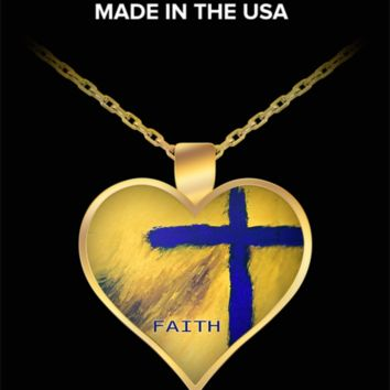 Faith Cross Necklace Pendant by Rossouw. Love, Heal and Inspire.