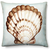 Shell II 20x20 Pillow, Light Blue, Decorative Pillows