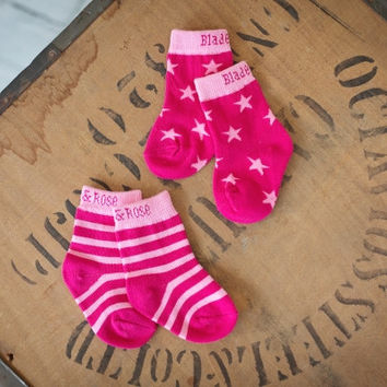 Cupcake & Pink Whale matching socks – 2 pack