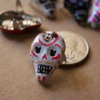 Dia De Los Muertos Day of the Dead Skull Studs For shoes, bags, jackets purses mickey zombie